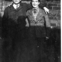 Kurt Klappholz, left, in Finchely Road hostel.