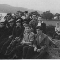 Harry Spiro (Front row second to right). Howard Chandler (in background).